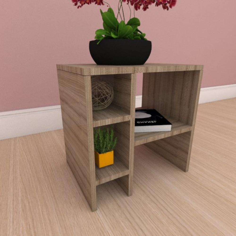 Mesa Lateral simples em mdf amadeirado