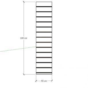 Painel canaletado para pilar vermelho escuro 1 peça 40(L)x180(A)cm