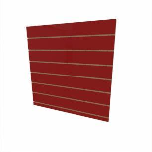 Expositor canaletado 18mm Vermelho Escuro Tx altura 90 cm comp 90 cm