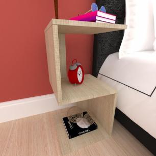 Mini estante para escritório moderna em mdf Amadeirado claro