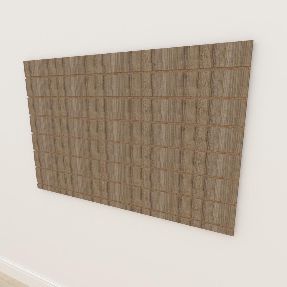 Painel canaletado 18mm amadeirado escuro altura 90 cm comp 135 cm