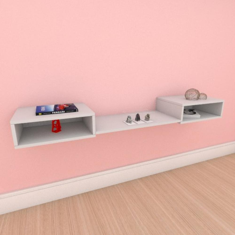 Rack minimalista moderno com prateleira em mdf cinza