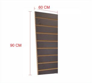 Expositor painel canaletado 18mm preto altura 90 cm comp 60 cm