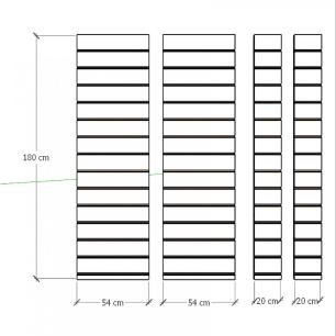 Kit 4 Painel canaletado para pilar azul escuro 2 peças 54(L)x180(A)cm + 2 peças 20(L)x180(A)cm