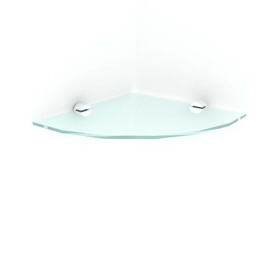 kit com 1 Prateleira para canto de vidro temperado para escritorio profundidade 20 cm