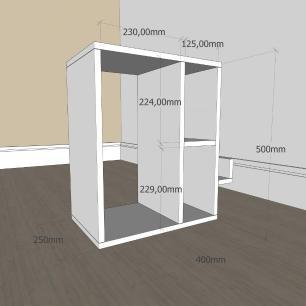 Estante escritório moderna com 3 niveis em mdf Preto