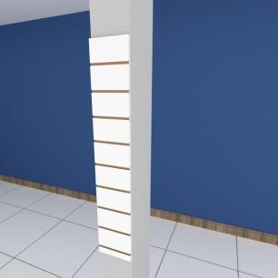 Painel canaletado para pilar branco 1 peça 20(L)x120(A)cm