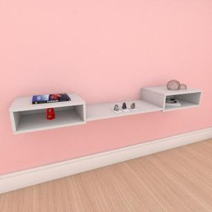 Aparador minimalista moderno com prateleira em mdf cinza