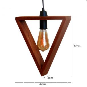 Pendente de Madeira Triangular | PM-101