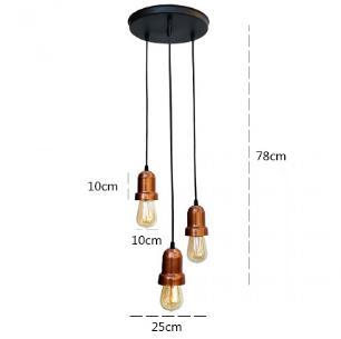 Pendente Industrial Triplo | PD-110-3C