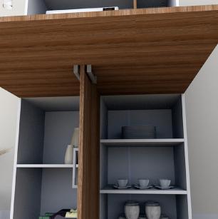 Armário de Cozinha 4003 Branco/Castanho - Appunto