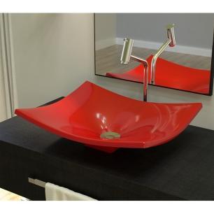 Cuba para Banheiro Folha F44W Vermelho - Compace