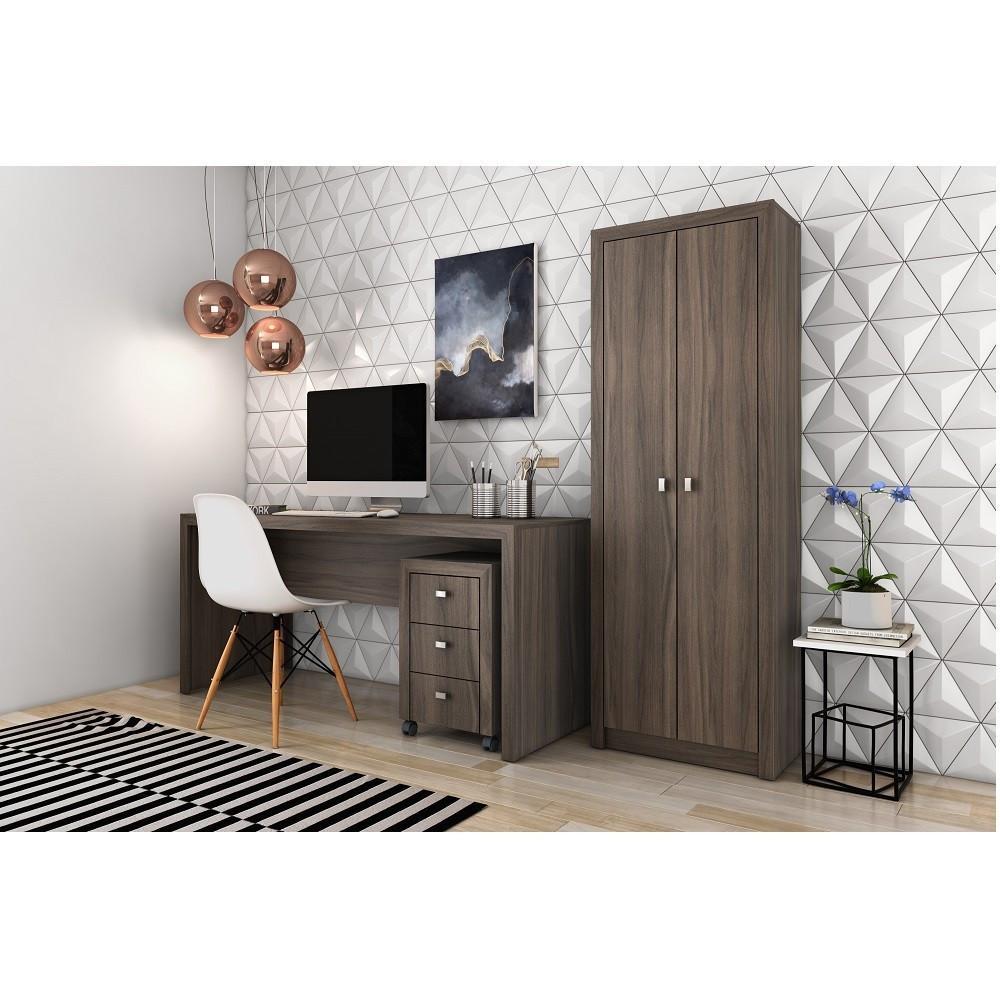 Conjunto Home Office CB06 Carvalho - Casa da Mobília