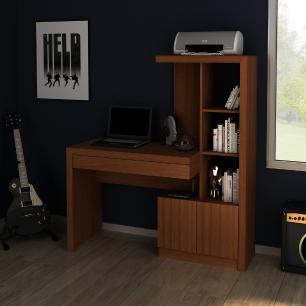 Mesa Para Escritório ME4143 Amendoa - Tecno Mobili