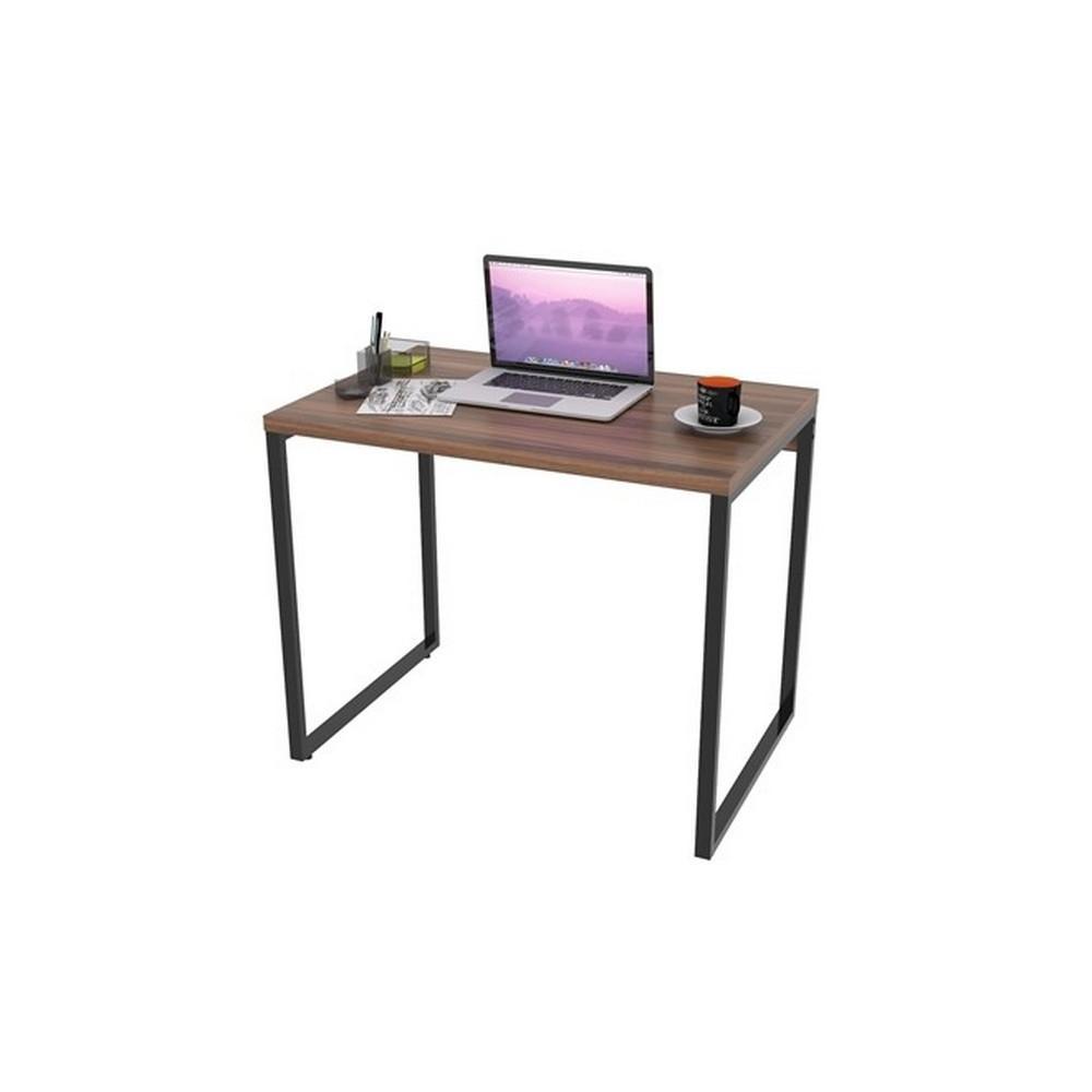 Escrivaninha Industrial Kuadra ME90 Nogal - Compace
