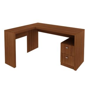 Mesa Para Escritório 74,5x135,8x113  2 Gavetas ME4129 Amendoa - Tecno Mobili