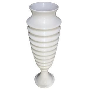 Vaso Decorativo Médio em Cerâmica 28 cm Branco – Ana Maria