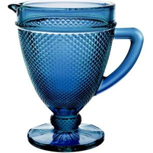 Jarra Bico de Jaca em Vidro 1L Azul Marinho – Gira