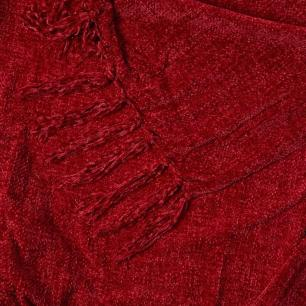 Xale Decorativo em Poliéster 1,30x1,50m Vermelho - Jolitex