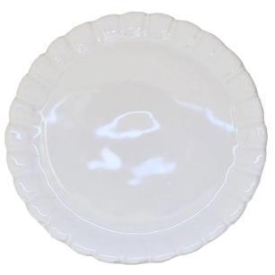 Boleira Em Cerâmica Girassol Branco 31,5cm - Porto Seguro
