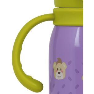 Garrafa Térmica Infantil Roxo Verde Aço Inoxidável - Mor