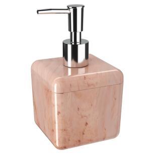 Porta Sabonete Líquido Cube Mármore Rosa Coza - Brinox