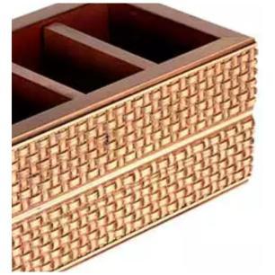 Porta Controle Madeira Trelica Marrom 25 cm - Full Fit