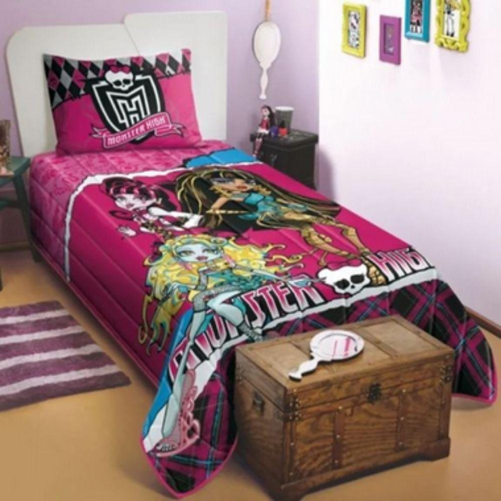 Colcha Matelassê Solteiro Monster High