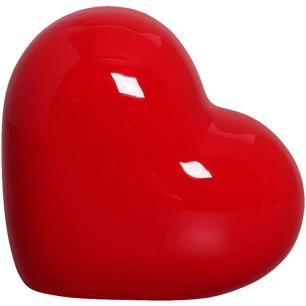 Coração Decorativo em Cerâmica 9 cm Vermelho – Silveira