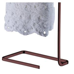 Porta Toalha de Bancada em Aço Carbono 29 cm Bronze Future