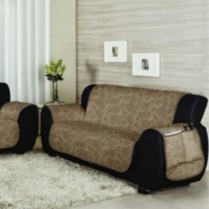 Kit protetor para sofá matelado 2 e 3 Lugares Bege