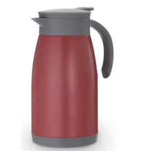 Garrafa Térmica Café em Inox  Vermelha 1L- Mimo Style