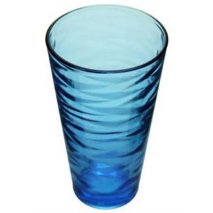 Jogo de Copos de Vidro 330 ml 6 Peças Origami Azul