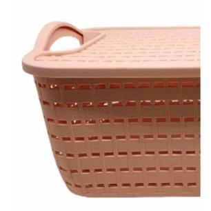 Caixa Organizadora 30 cm em Plástica Rosa Pastel - FWB