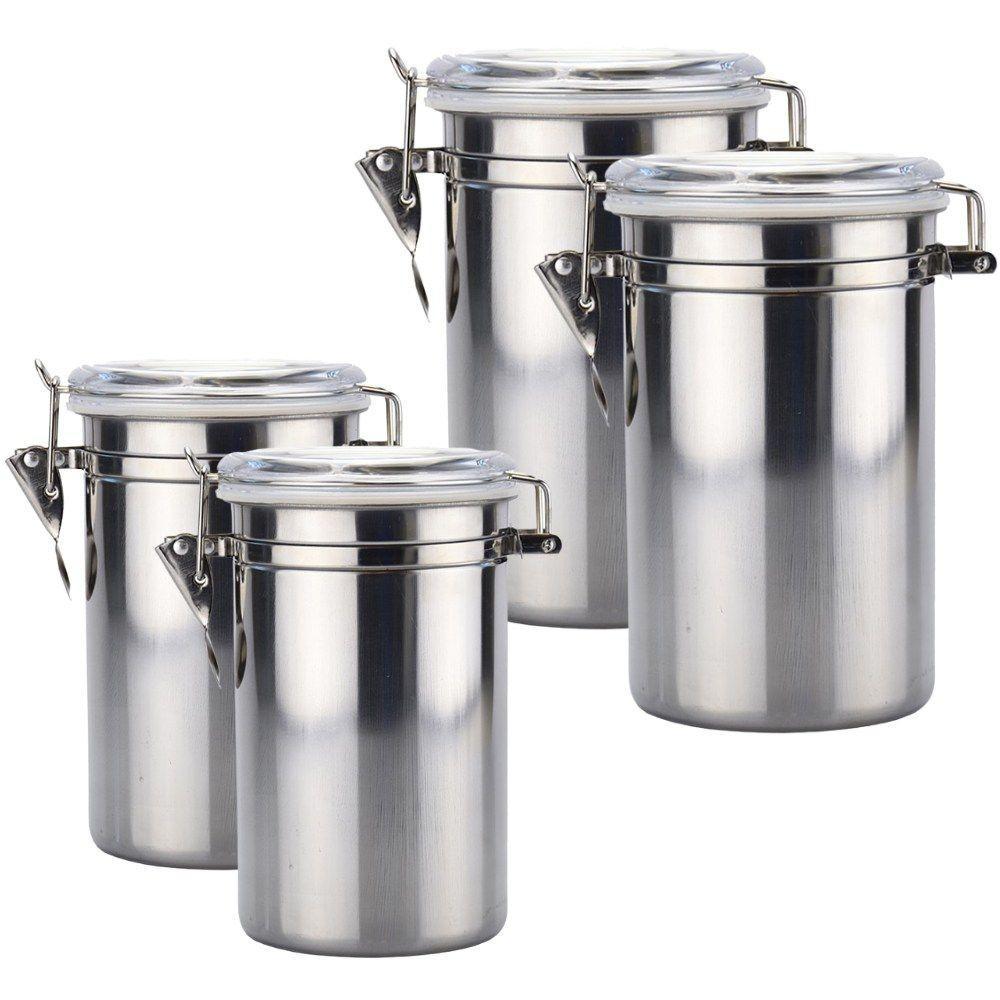 Kit de Potes Hermético em Aço Inox 1,5L e 1,8L – 4 Peças