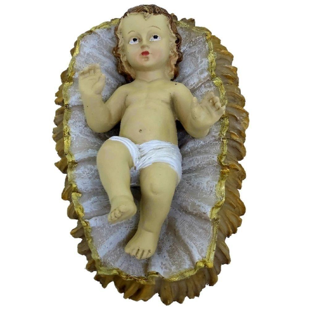Jesus Cristo Na Manjedoura em Resina 20 cm – RIO De Ouro
