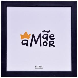 Conjunto com 4 Quadros Mãe Decoração 25x25 – Art Frame