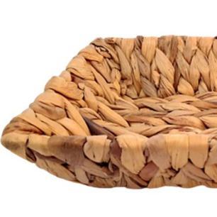 Bandeja Cesta Retangular Em Palha 25x19x5,5cm - Amigold