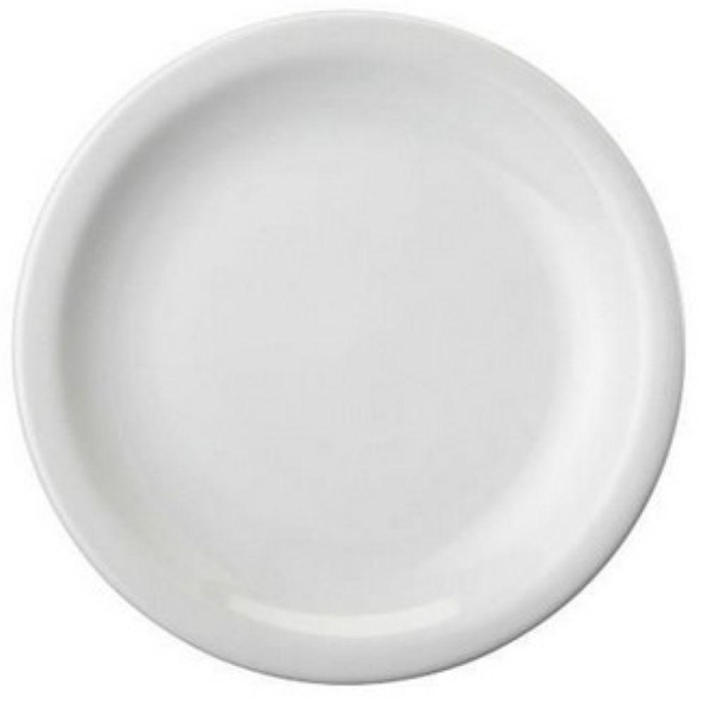 Prato Raso Porcelana Schmidt Branca 26cm