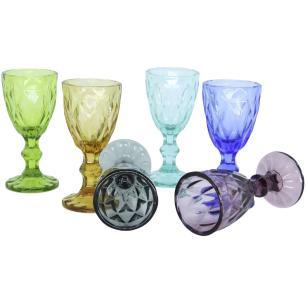 Jogo Licor 6 peças Vidro Colorido 40 ml Diamond - Gira