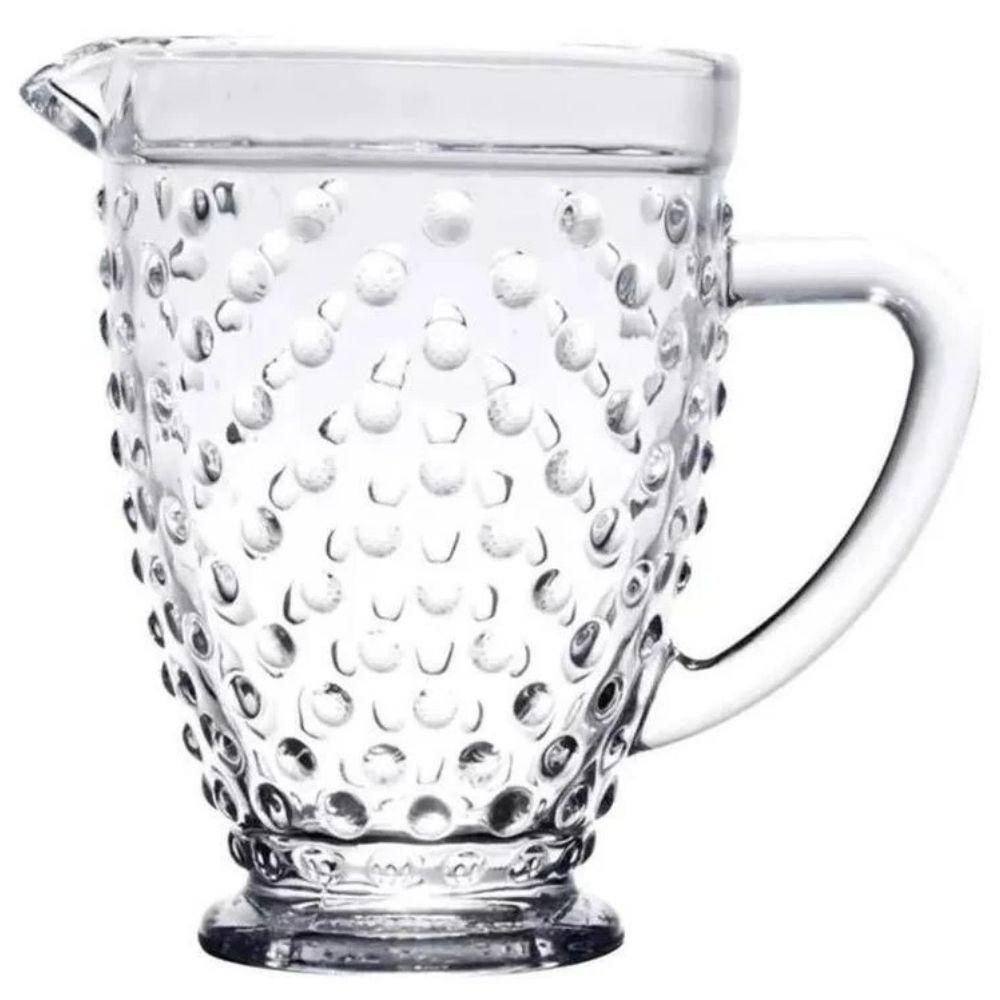 Jarra Bubble com Bolinhas em Vidro 1L Transparente