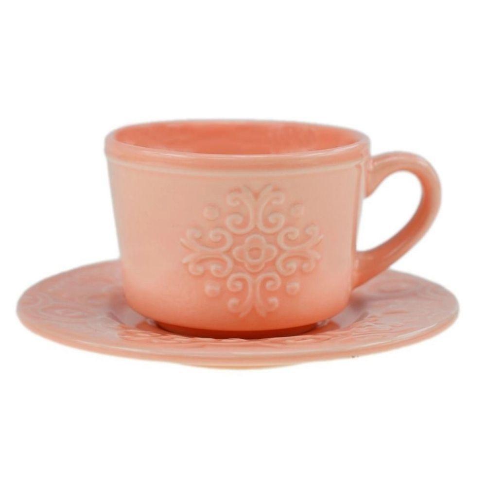 Jogo de 4 Xícaras p/Café em Porcelana 80ml Rose - Wolff