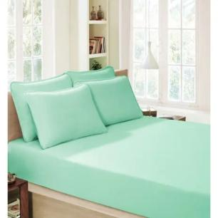 Lençol Avulso Queen Size Verde com Elástico - Premium