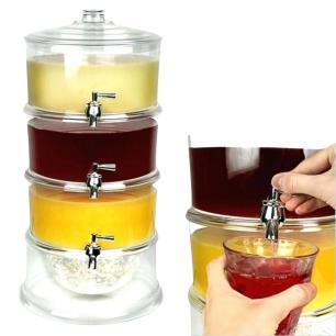 Suqueira Cristal 3 Divisórias Transparente - KIT GIRL