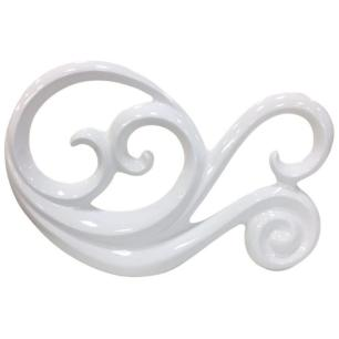 Escultura Decorativa em Cerâmica 36x24cm Branco - Ana Maria