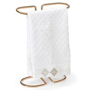 Porta Toalha de Bancada em Aço 29 cm Rose Gold - Arthi