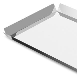 Bandeja para Servir em Aço Inox Bergen 40x28 cm Prata Brinox