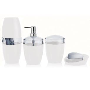 Jogo para Banheiro Vitra Acrílico 4 Peças Branco - Ou