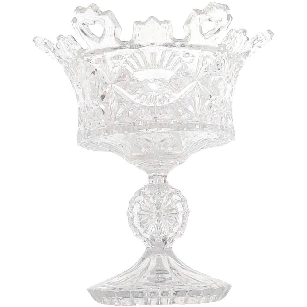 Centro de Mesa em Cristal de Vidro Taça com Pé - Tecnoserv