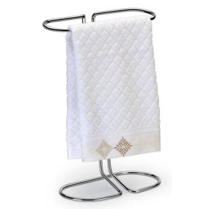 Porta Toalha de Bancada em Aço Cromado 29 cm Prata - Arthi